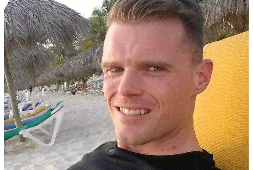Facebook photo of Paul Batchelor on a beach posted to the social media site on May 1, 2015.