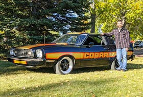Braxton Sickel of Calgary bought his 1978 Mustang Cobra II in his hometown of Yorkton, Sask. It was his first car, and although the Mustang II generation seems to be the unloved pony car, he says it always draws a great deal of attention. Contributed/Braxton Sickel