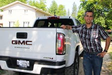 Blake Mitchell hopes he can keep his 2021 GMC Canyon AT4 Diesel for 15 years, so his daughter can drive it. Tina Peplinskie/Postmedia News