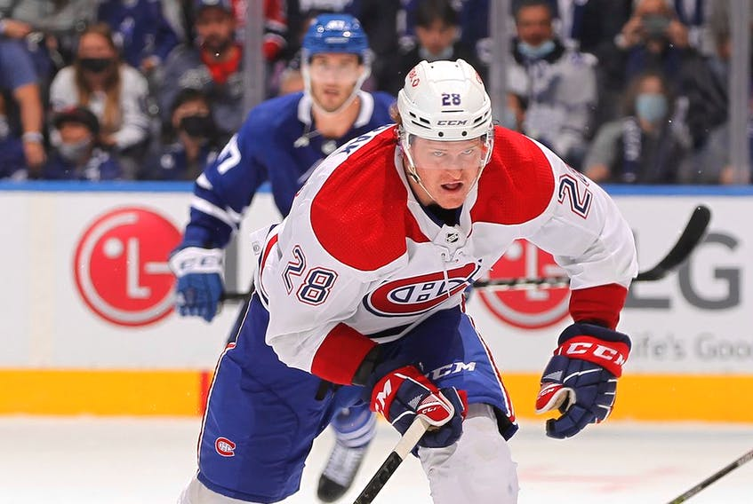 Newcomer Christian Dvorak centred the Canadiens' best line Wednesday night against Toronto.