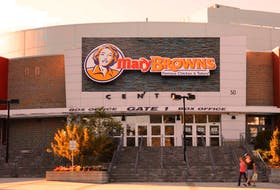 This composite photo shows what Mile One Centre could look like now that Mary Brown's Chicken has taken over naming rights for the facility.
