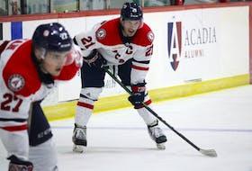 Garrett McFadden is the captain of the Acadia Axemen.