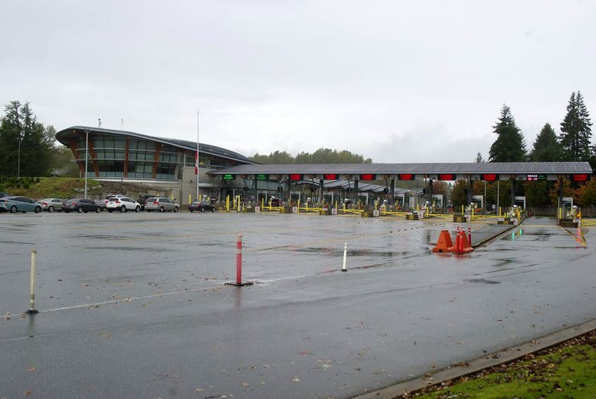There are precious few Canada-bound vehicles queued up at the Peace Arch border crossing on Wednesday. For Point Roberts Chamber of Commerce president Brian Calder, a key element in the relaxing of COVID travel rules across the border will be what Canada will require for anyone returning home.
