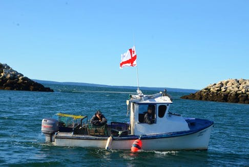 In this file photo, a Mi'kmaw-owned fishing boat sets lobster traps under a moderate livelihood licence. Four Nova Scotia Mi'Kmaw communities have announced moderate livelihood fisheries.