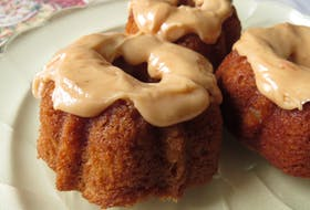 Autumn apple Bundts are a great dessert for any fall meal.