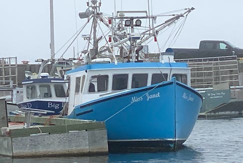 The Miss Janet in Yarmouth harbour on Thursday afternoon. CARLA ALLEN PHOTO