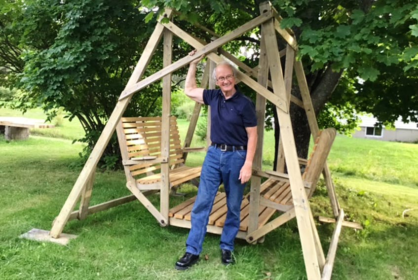 Bill Munro enjoys outdoor swings and has come up with a design for a wheelchair-accessible model.
