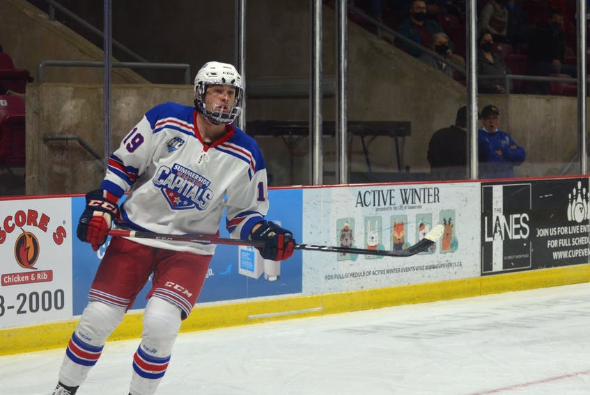 Max-Antoine Melancon scored late in the third period to lift the Summerside D. Alex MacDonald Ford Western Capitals to a 3-2 win over the Valley Wildcats in a Maritime Junior Hockey League (MHL) game in Berwick, N.S., on Oct. 13.