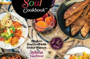 """""""It describes my personality— I'm a little bit twisted — and it describes what I do, which is a twist on soul food,"""" says award-winning Atlanta chef Deborah VanTrece of the meaning behind the title of her first book, The Twisted Soul Cookbook."""