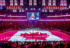 """""""The Bell Centre is the best place to play in the league and having people in the stands is why it is the best place and we're excited,"""" Canadiens defenceman Ben Chiarot says."""