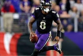 Lamar Jackson is putting big numbers through the air this season.