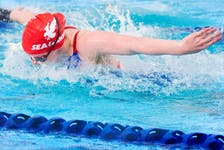 Memorial Sea-Hawks swimmers see their first AUS competition since early 2020 when they take to the pool for a meet hosted by Acadia University this weekend. — File photo/Memorial Athletics