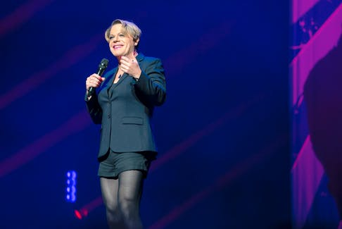Comedian and actor Eddie Izzard, seen here performing at New Yorks's Beacon Theatre, brings her Wunderbar World Tour to Halifax's Rebecca Cohn Auditorium on Nov. 2 and 3. - Amanda Searle