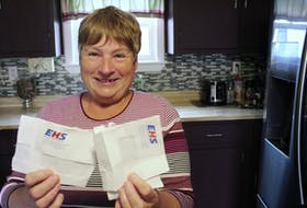 Donna Holloway is happy she can finally rip up the EHS bills they've received for her husband's ambulance transport to the Cape Breton Regional Hospital when he had COVID-19 in May. NICOLE SULLIVAN/CAPE BRETON POST