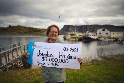 Josephine Hawkins of Brigus South, N.L. recently won $1 million from a Big 10 Scratch'N Win.