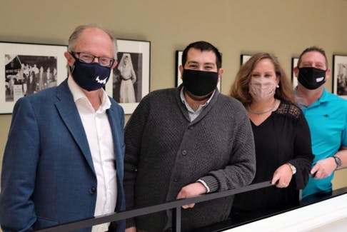 P.E.I. announced it will cover cystic fibrosis medication Trikafta through the P.E.I. Pharmacare Formulary beginning Nov. 1. Shown from left: Health Minister Ernie Hudson and cystic fibrosis advocates Hunter Guindon, Sherri Carmichael and Ray Carmichael.