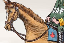 Preview of Bruce MacKinnon's editorial cartoon for October 16, 2021.