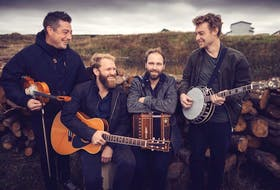 Traditional/folk quartet Rum Ragged (from left, Colin Grant, Mark Manning, Aaron Collins, Zach Nash) nabbed three Music NL awards in 2020, including celtic/traditional artist of the year and album of the year.  PHOTO CREDIT: Contributed