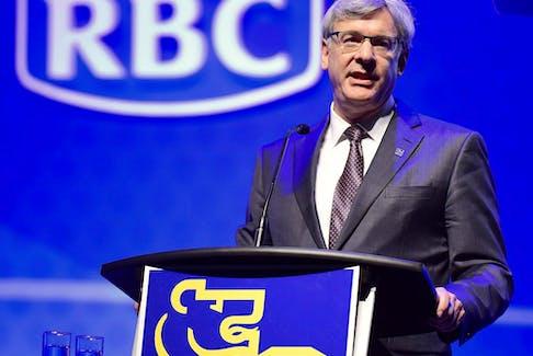 Royal Bank of Canada chief executive David McKay speaks in Toronto on April 6, 2017.