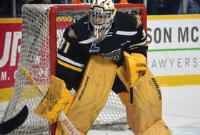 Kevin Mandolese is one of seven former Cape Breton Eagles from the 2019-20 roster who have signed a professional contract this season. JEREMY FRASER • CAPE BRETON POST