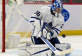 Maple Leafs goalie Jack Campbell.