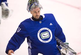 Jaro Halak is expected to get the start in goal against Detroit this afternoon after Thatcher Demko started the first two games of the NHL season.