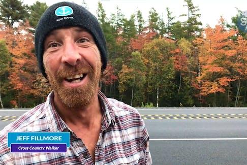 Sheldon MacLeod speaks with Jeff Fillmore, Cross Country walker.