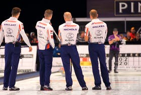 The Brad Gushue rink will be sizing up the situation at the Masters Grand Slam of Curling event in Oakville, Ont., beginning today. — Contributed/teamgushue.ca