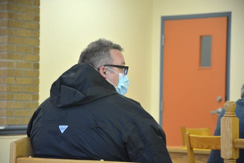Christopher Power is shown during his latest court appearance at provincial court in Harbour Grace on Oct. 18.