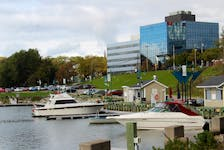 The Sydney waterfront around the former Royal Yacht Club. Land to the right is owned by Harbour Royale Development Ltd., while the Cape Breton Regional Municipality owns the land to the left. IAN NATHANSON • CAPE BRETON POST