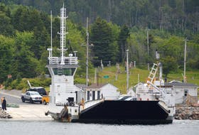 """The Englishtown ferry has suspended its service until later this week due to what John Majchrowicz, manager of marine services for Nova Scotia's Department of Public Works, described as """"severe engine failure."""" — NICOLE SULLIVAN • CAPE BRETON POST FILES"""