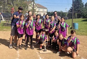 The S&M Sydney Venom captured the under-10 division of the Sydney and Area Girls Softball League last month. Members of the team, in no particular order, Lyla Hunter, Annie Millins, Zoe Watson, Clara Mullins, Sadie Sives, Quinn Boudreau, Neveaha Denny, Pacey Stevens, Maris Stevens, Sophia Best and Julia Porter. Team coaches are James Leo Mullins and Adam Watson. CONTRIBUTED • NYA KENNEDY