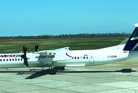 A WestJet aircraft on the tarmac at the J.A. Douglas McCurdy Sydney Airport. During a virtual roundtable discussion Friday, WestJet officials said they hope to have airline service back to where it was in the province — pre-COVID — by the end of next summer. CONTRIBUTED