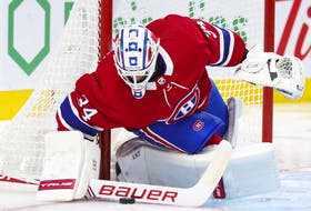 Jake Allen will be in goal for the Canadiens Tuesday night against the San Jose Sharks. He has an 0-2-0 record with a 2.05 goals-against average and a .925 save percentage.