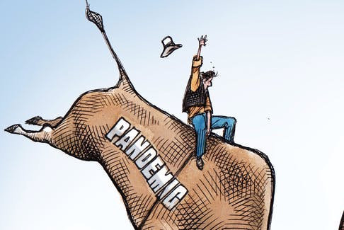 Preview of Bruce MacKinnon's editorial cartoon for Oct. 20, 2021.