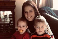 Angela Gill, from Lumsden, N.L., grew up in the foster care system in Cape Breton, and now urges other families to consider becoming a foster family. She is pictured here with her own sons and says she's grateful for the foster families who helped raise her. Contributed