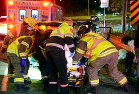 One person was sent to hospital following a two-vehicle crash in St. John's Tuesday night.