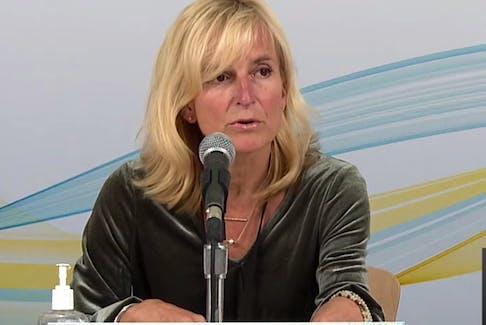 P.E.I.'s chief public health officer Dr. Heather Morrison announces three new cases of COVID-19 in P.E.I. on Oct. 19, 2021.
