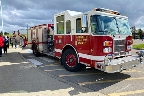 Yarmouth firefighters responded to a call at the Yarmouth High School about 1 p.m. on Oct. 19. CARLA ALLEN • TRI-COUNTY VANGUARD