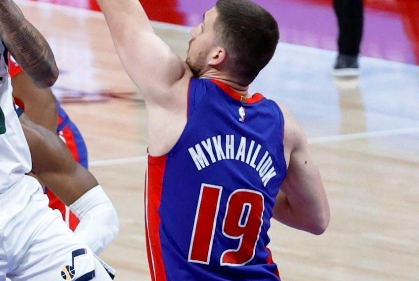 Guard Svi Mykhailiuk is part of the Toronto Raptors' training camp roster.
