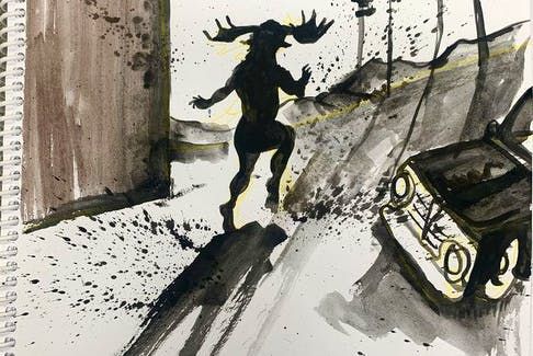 Illustrations by Rich Theroux from his book, The River Troll.