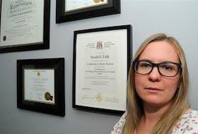 Dr. Sarah Elizabeth Tulk, MD, at her home in west-end St. John's.