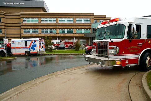 Two students were treated for minor smoke inhalation following a fire at Waterford Valley High School Wednesday afternoon.
