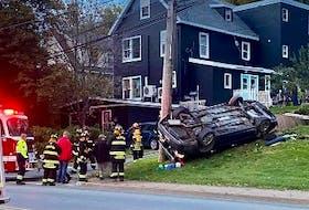 Crash in Trenton, Pictou County, on Oct. 19, 2021.
