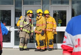 Yarmouth firefighters responded to a call at the Yarmouth High School in the afternoon of Tuesday, Oct. 19. CARLA ALLEN • TRI-COUNTY VANGUARD