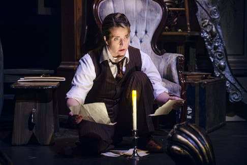 Gillian Anderson performs a scene from The Woman in Black on Wednesday, Oct. 20, 2021. The Woman in Black is the second-longest running production in London's West End, playing since 1989. Ryan Taplin - The Chronicle Herald