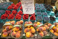 The produce at Ponesse Foods at St. Lawrence Market in Toronto on Sept. 15, 2021.
