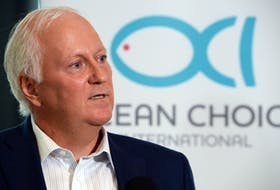 Martin Sullivan, chief executive officer and co-chairman of Ocean Choice International, speaks to media during a press conference in St. John's Wednesday afternoon.  Keith Gosse/The Telegram
