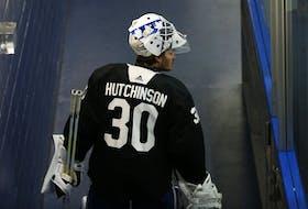 Maple Leafs goalie Michael Hutchinson.
