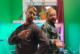 Isaac Dixon, left, and Colin Canning were recently evicted from a duplex in Dartmouth, where they have been living for at least nine years, because it had been sold.